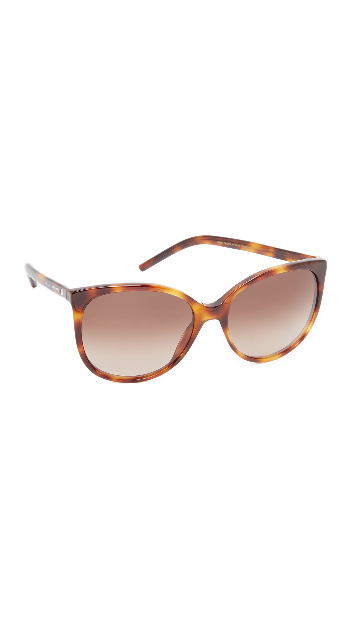 marc jacobs female 211469 marc jacobs easy to wear cat eye sunglasses havanabrown