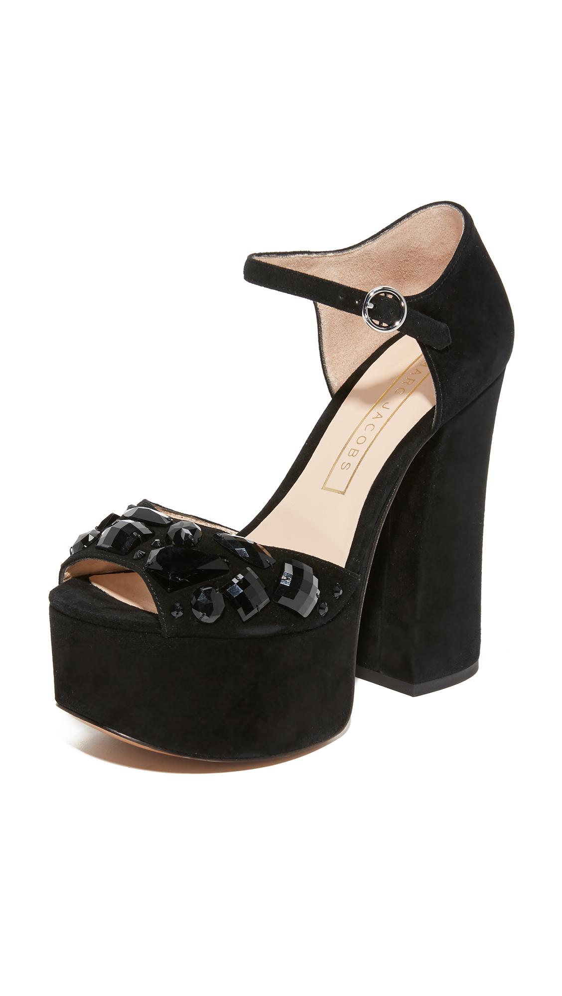 marc jacobs female marc jacobs adriana platform sandals black