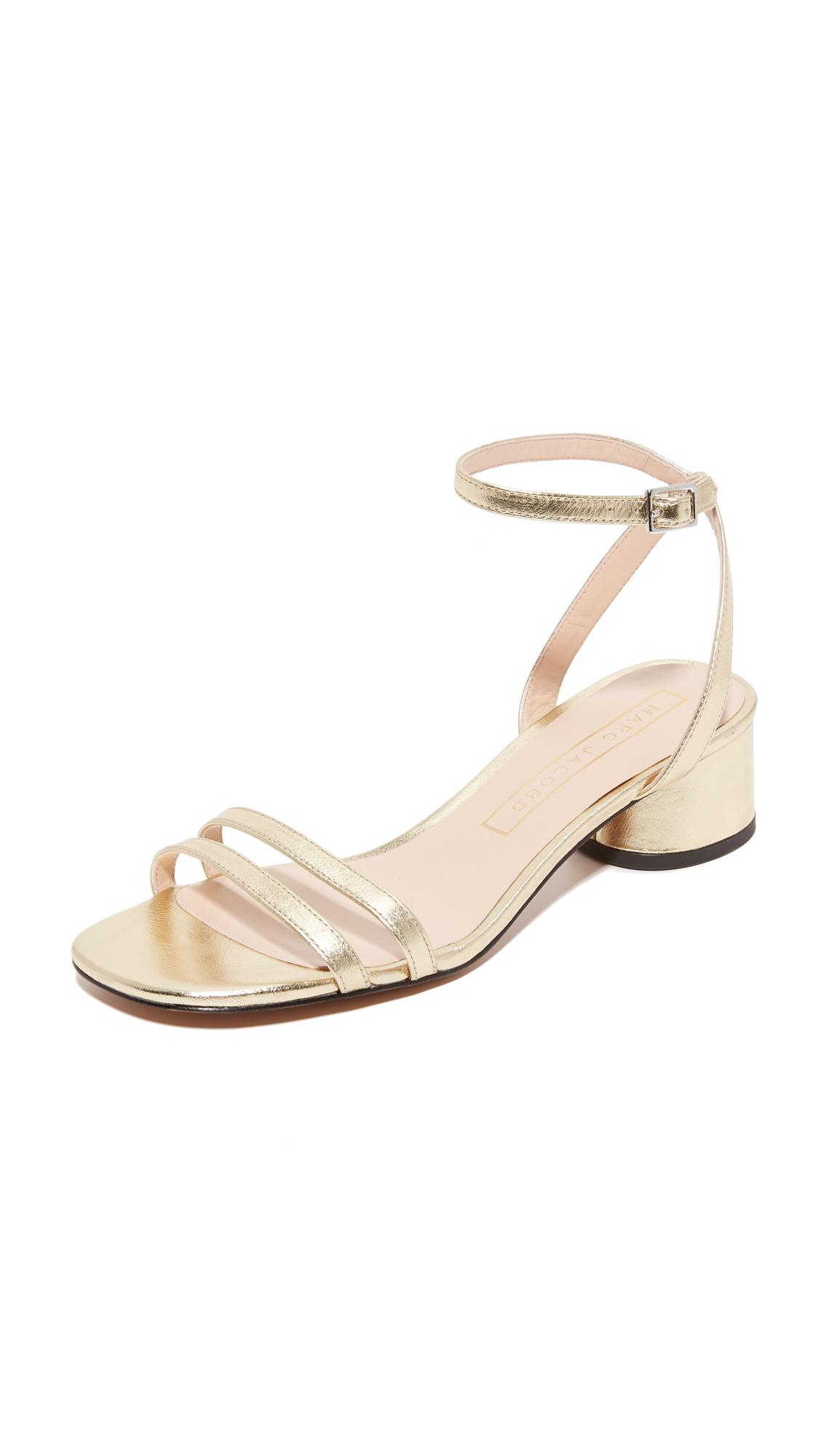 marc jacobs female marc jacobs olivia city sandals gold