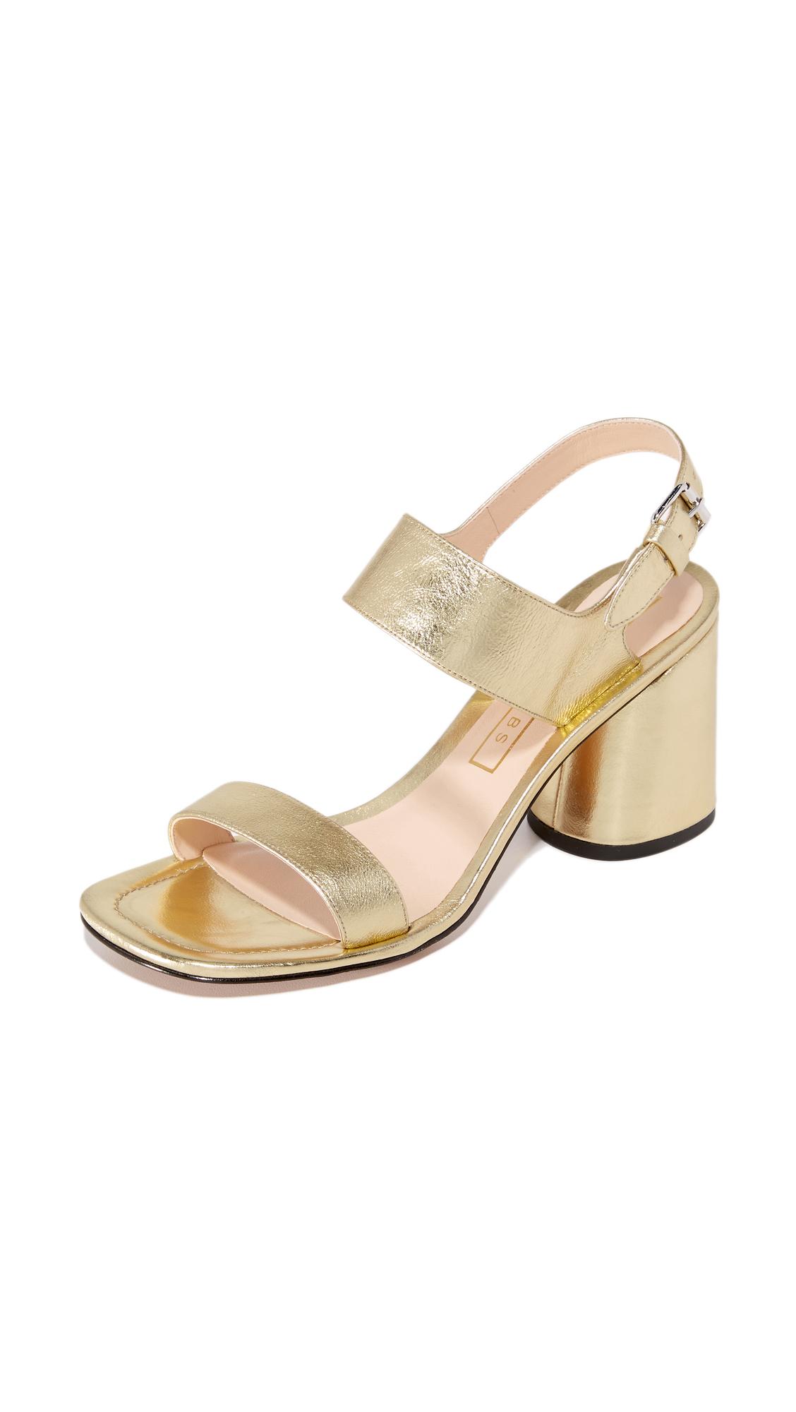 marc jacobs female marc jacobs emilie strap sandals gold