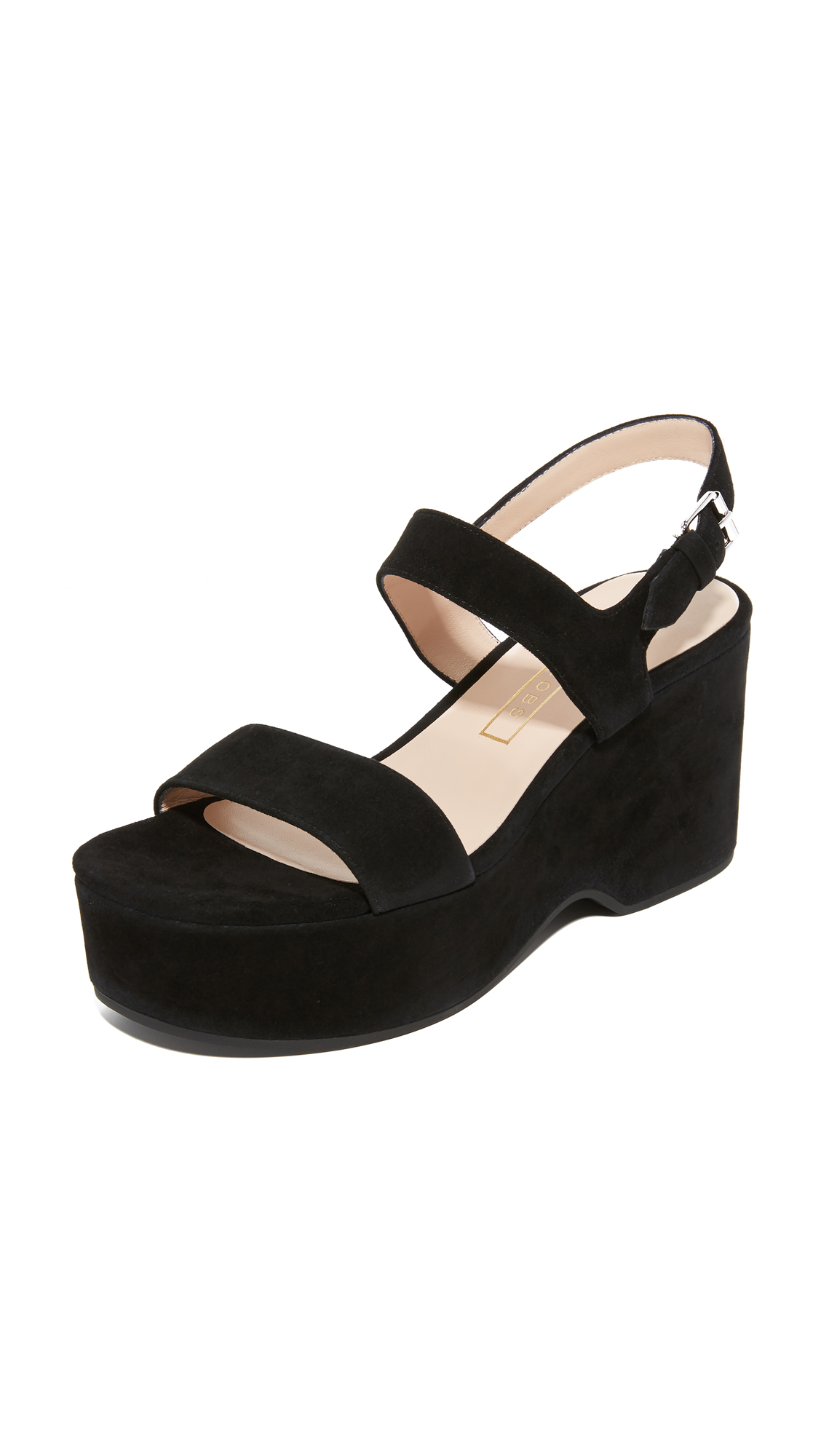 marc jacobs female marc jacobs lily wedge sandals black