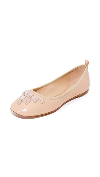 Marc Jacobs Cleo Studded Ballerina Flats - Nude