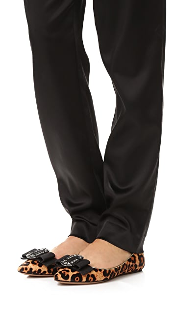 Marc Jacobs Interlock Pointy Toe Ballerina Flats