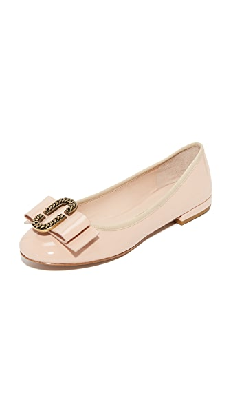 Marc Jacobs Interlock Round Toe Ballerina Flats