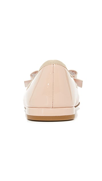 Marc Jacobs Interlock Round Toe Ballerina Flats