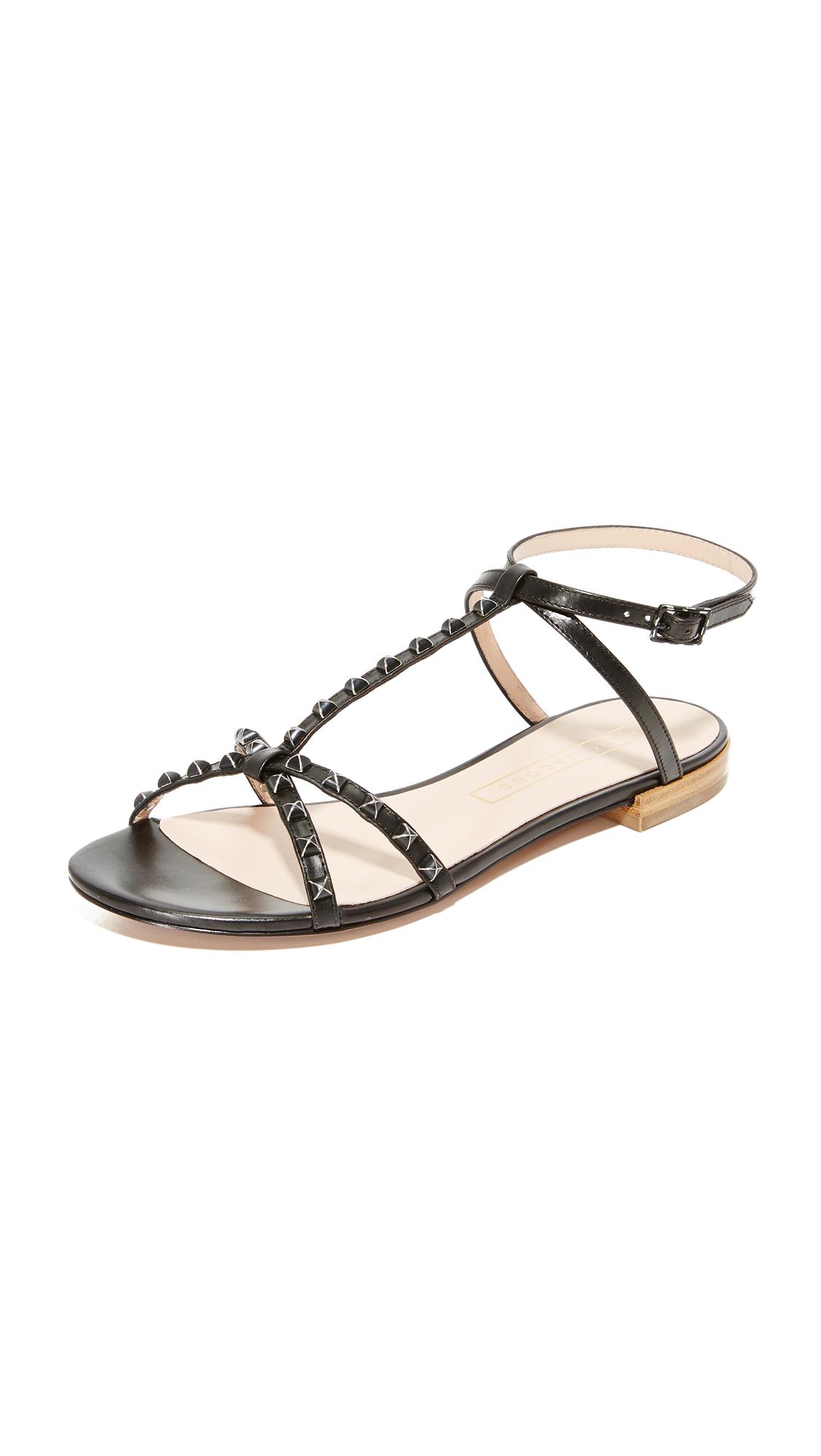 marc jacobs female marc jacobs ana studded sandals black