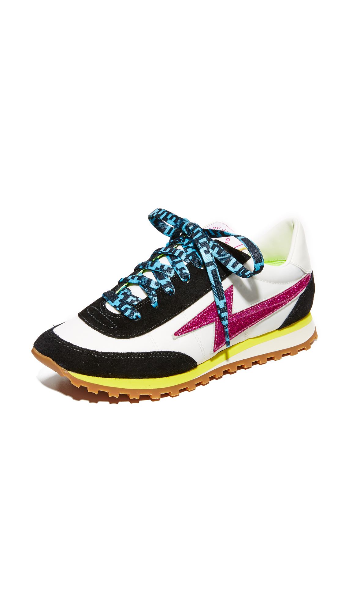 marc jacobs female marc jacobs astor lightning bolt sneakers white multi