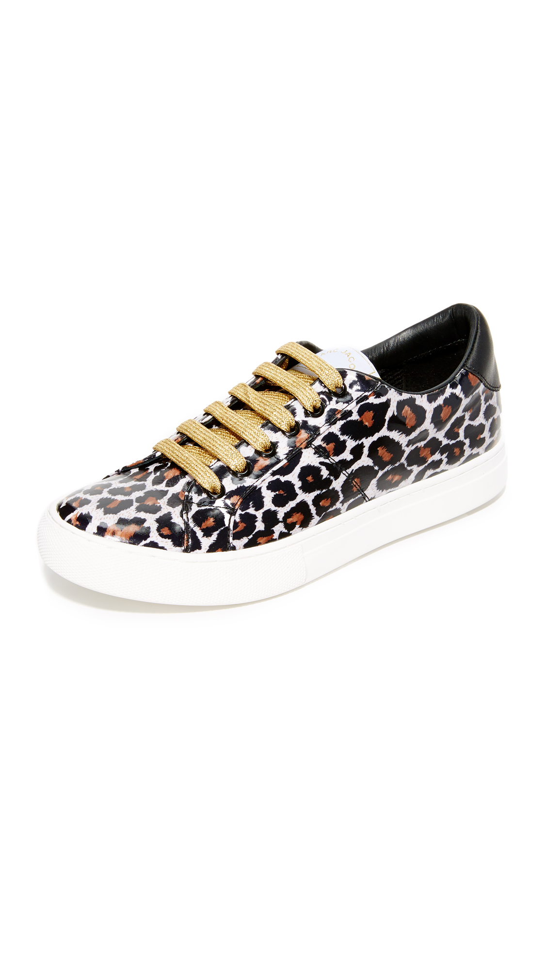 marc jacobs female marc jacobs empire lace up sneakers natural multi