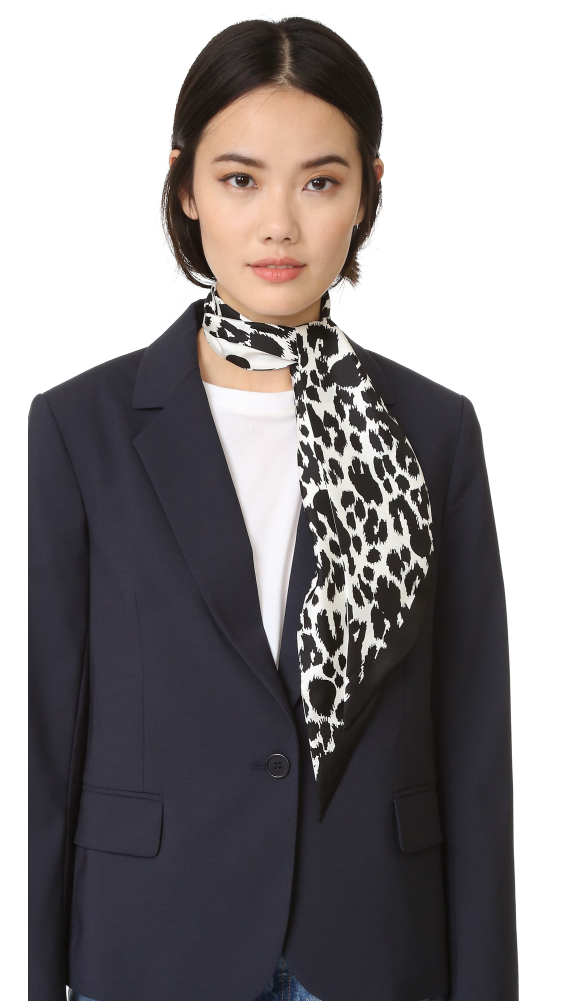 marc jacobs female 440185 marc jacobs dotted leopard scarf bone multi