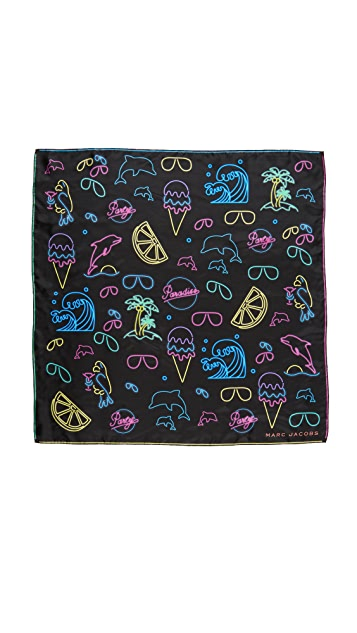 Marc Jacobs Neon Lights Scarf
