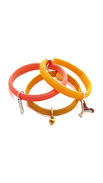 Marc Jacobs Martini Safety Pin Cluster Hair Ties