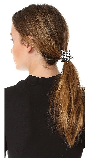 Marc Jacobs Checkerboard Star Hair Tie