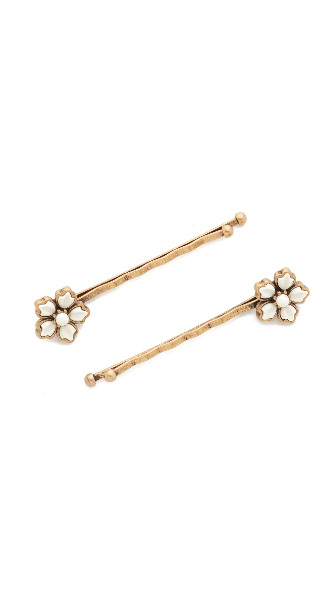 marc jacobs female 123888 marc jacobs flower bobby pin set bone multi