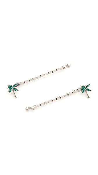 Marc Jacobs Strass Palm Tree Bobby Pin