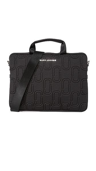 "Marc Jacobs 13"" Double J Neoprene Commuter Case - Black"