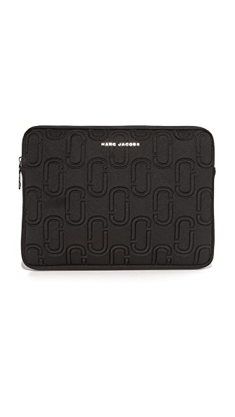 "Marc Jacobs 13"" Double J Neoprene Computer Case - Black"