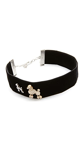 Marc Jacobs Poodle Choker Necklace