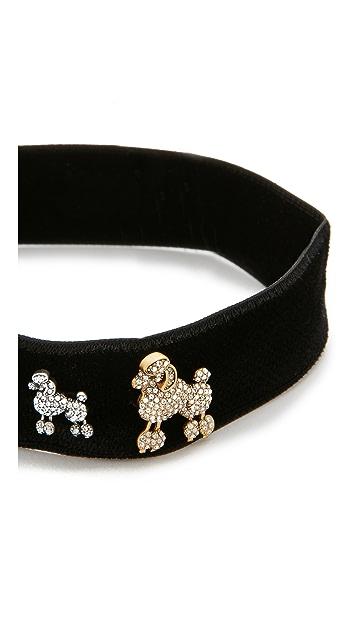 Marc Jacobs Poodle Choker Necklace