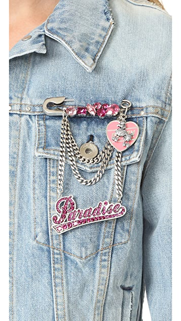 Marc Jacobs Paradise Chain Brooch
