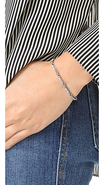 Marc Jacobs Strass Safety Pin Link Bracelet