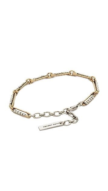 Marc Jacobs Strass Safety Pin Link Bracelet