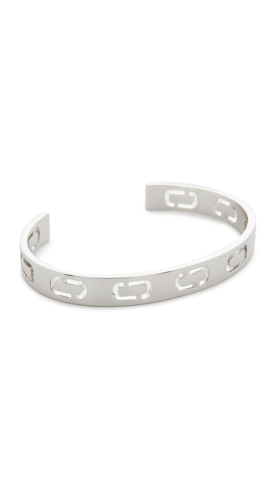 marc jacobs female 45900 marc jacobs icon cuff bracelet silver