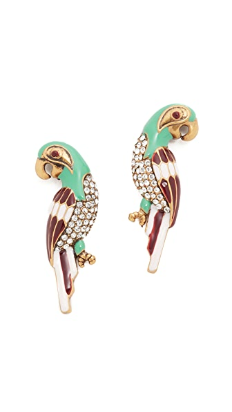 Marc Jacobs Big Parrot Stud Earrings