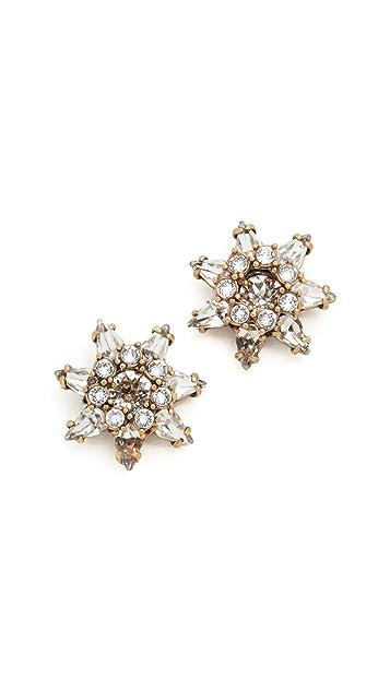 Marc Jacobs Pointy Strass Flower Stud Earrings