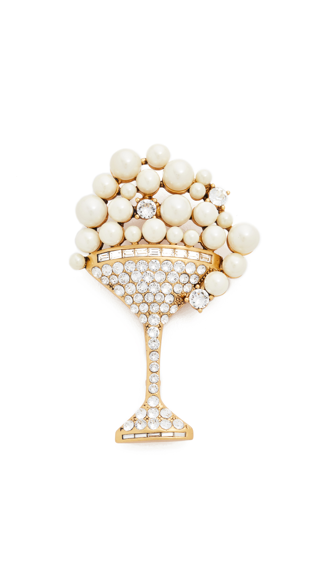 marc jacobs female 227200 marc jacobs martini brooch creamantique gold