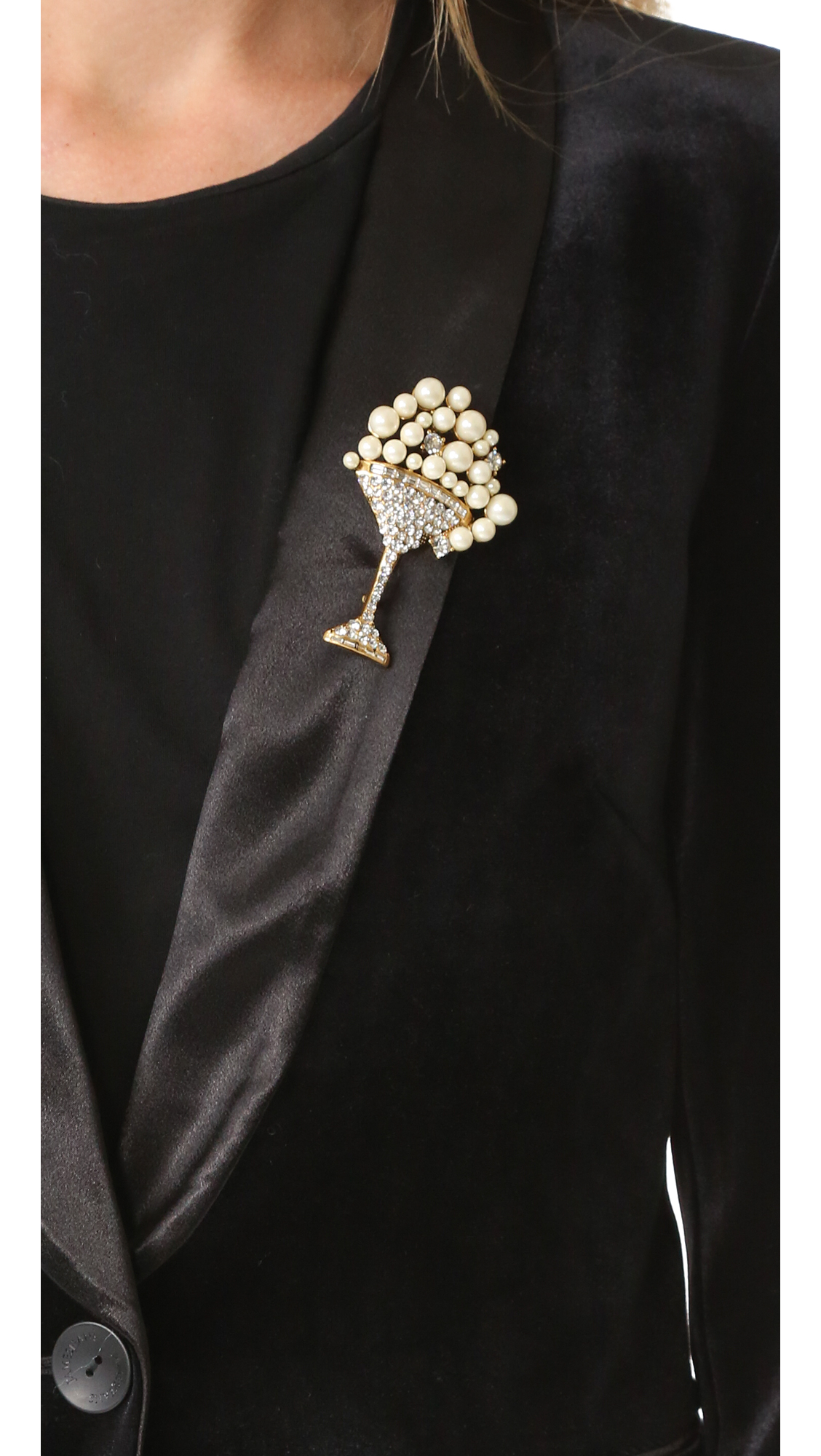 petal rosette single duo with pin finish lapel chain silver badges suit and brooch