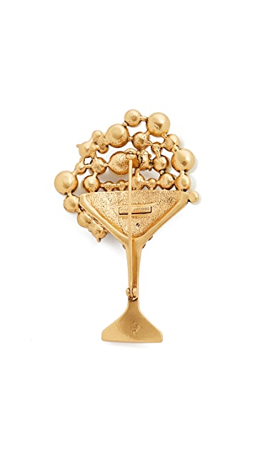 Marc Jacobs Martini Brooch