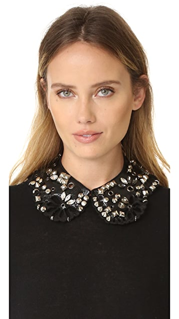 Marc Jacobs Daisy Leather Collar