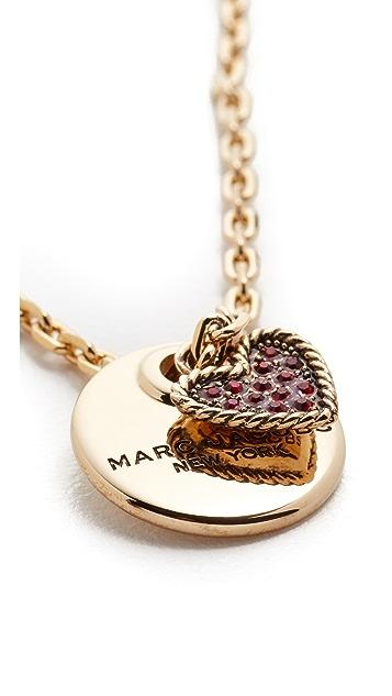 Marc Jacobs MJ Coin Pendant Necklace