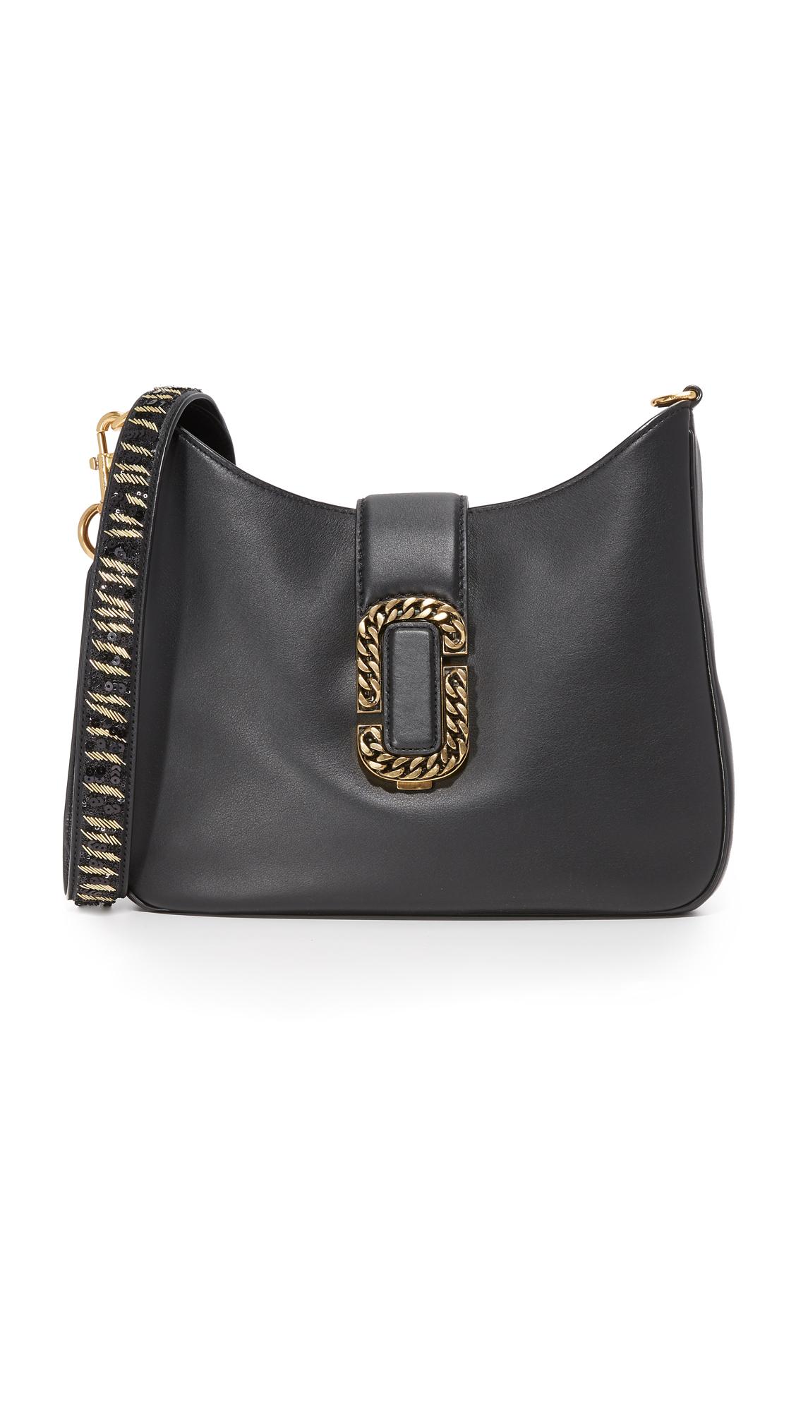 marc jacobs female marc jacobs interlock chain hobo bag black multi
