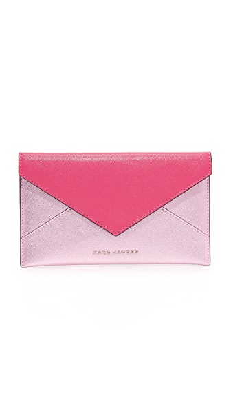 Marc Jacobs Bicolor Envelope Pouch - Magenta/Pink