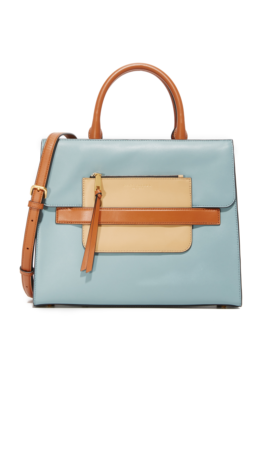 marc jacobs female marc jacobs madison north south satchel dolphin blue multi