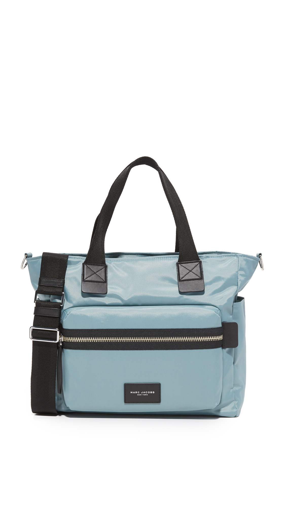 marc jacobs female 201920 marc jacobs nylon biker baby bag dolphin blue