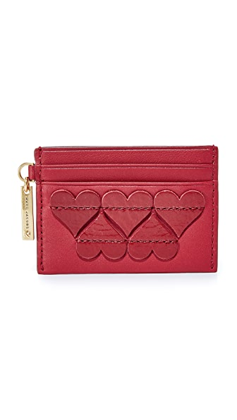Marc Jacobs Stitched Hearts Card Case