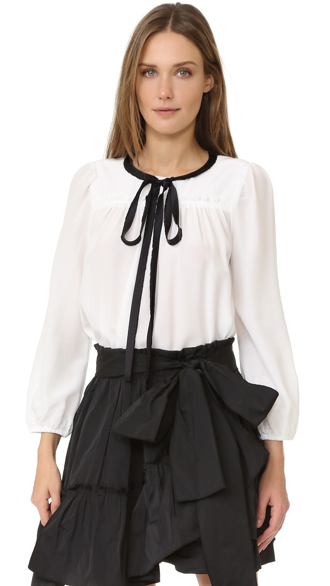 marc jacobs female marc jacobs silk blouse ivory