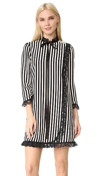Marc Jacobs Striped Babydoll Dress