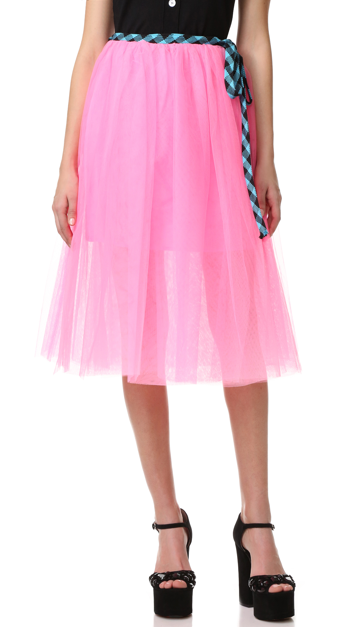 marc jacobs female marc jacobs tulle skirt pink