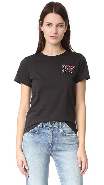 Marc Jacobs Классическая футболка с вышивкой