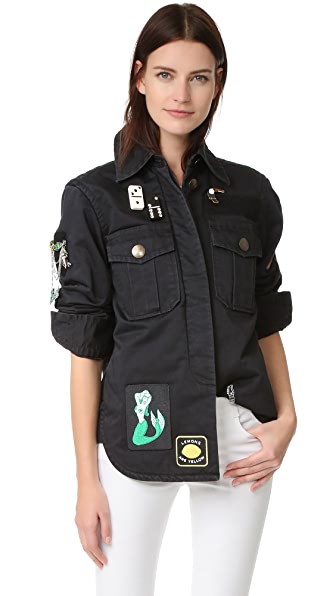 Marc Jacobs Padded Military Shirt - Black