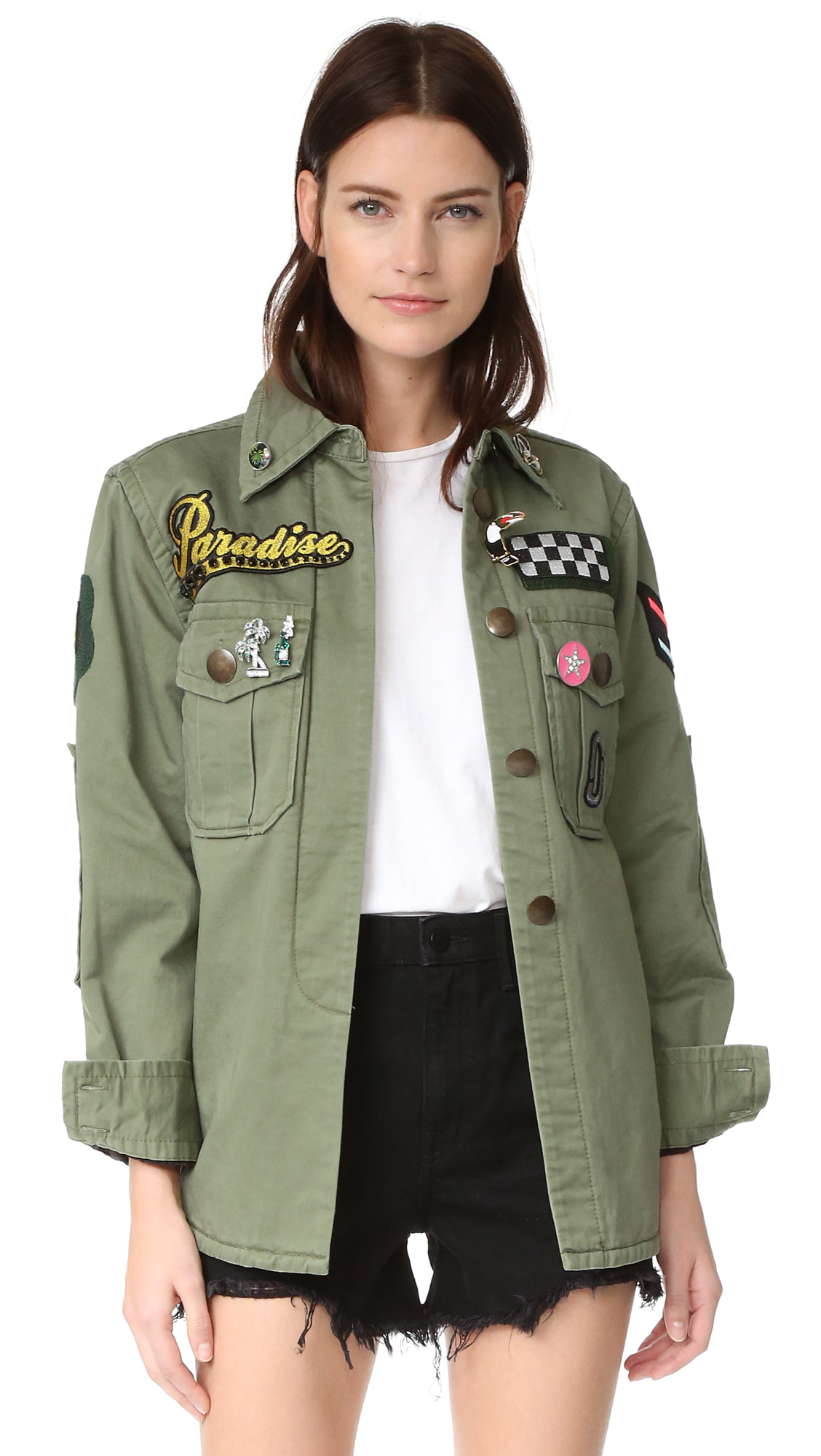 Marc Jacobs Padded Military Shirt - Military Green