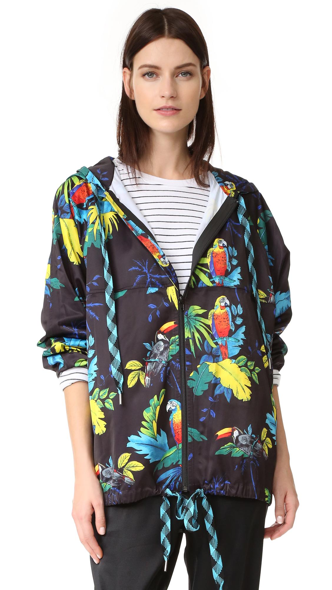 marc jacobs female marc jacobs parrot print hoodie black multi