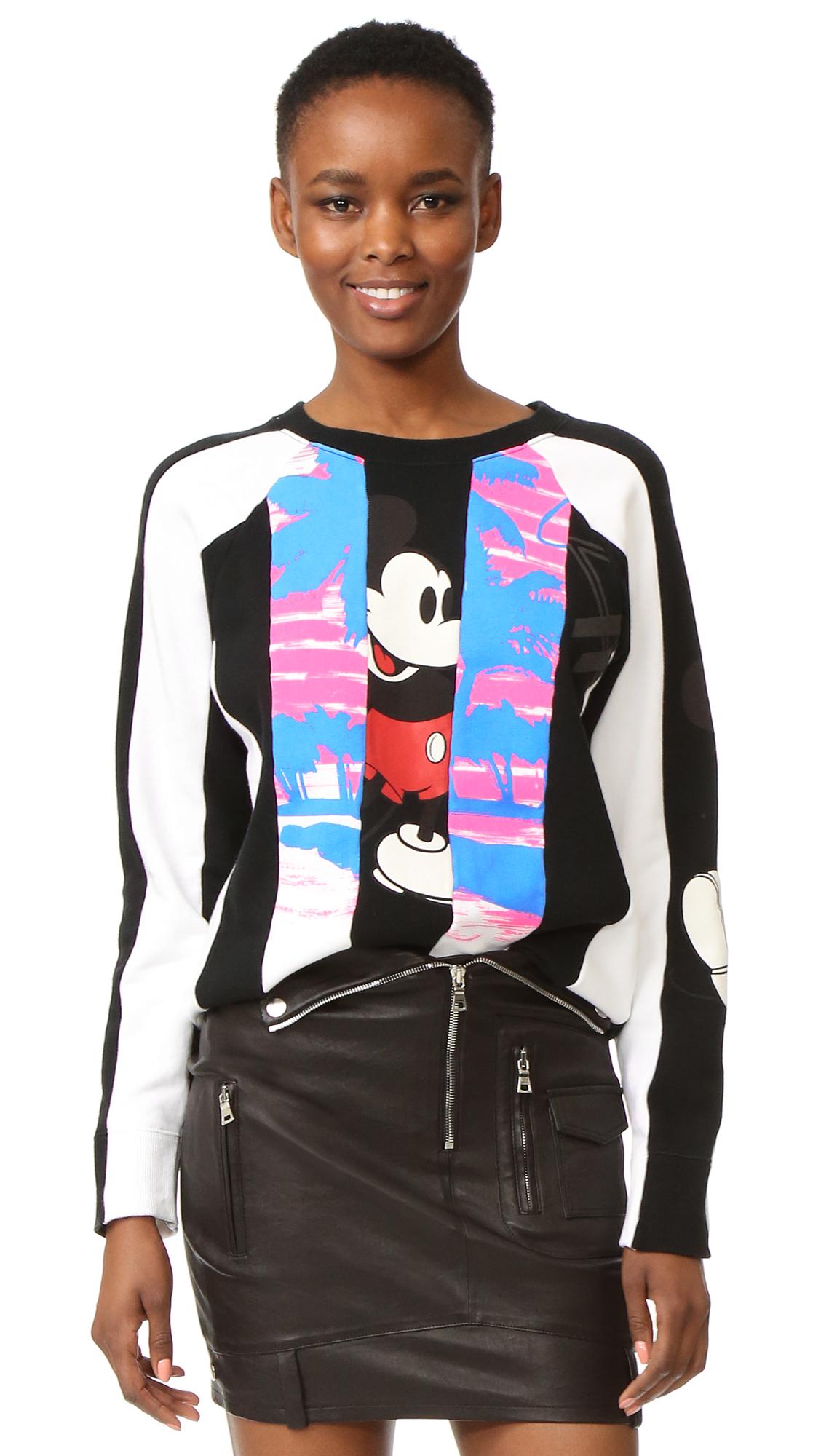 marc jacobs female marc jacobs long sleeve raglan sweatshirt black multi