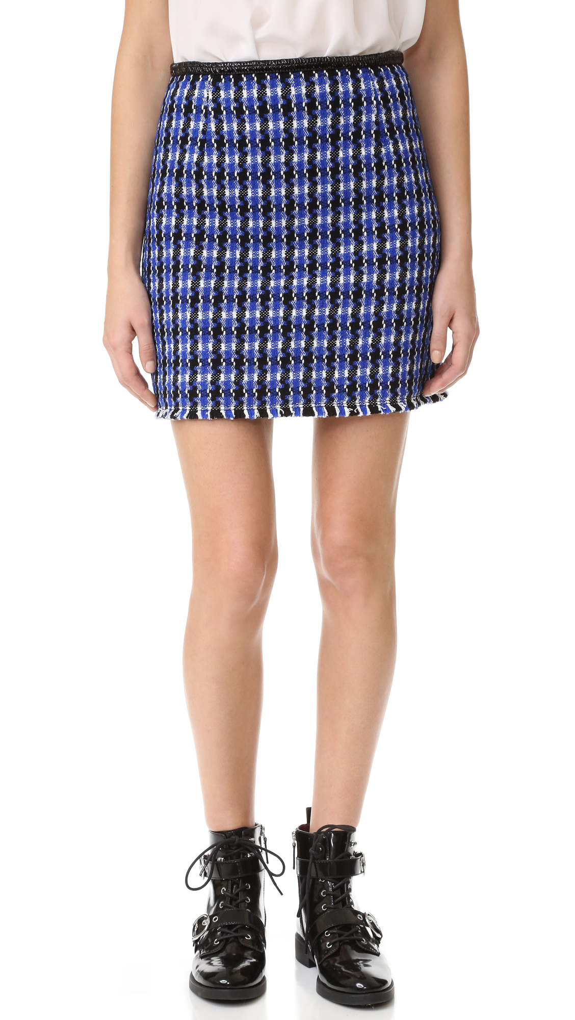 Marc Jacobs Vinyl Skirt - Royal Blue