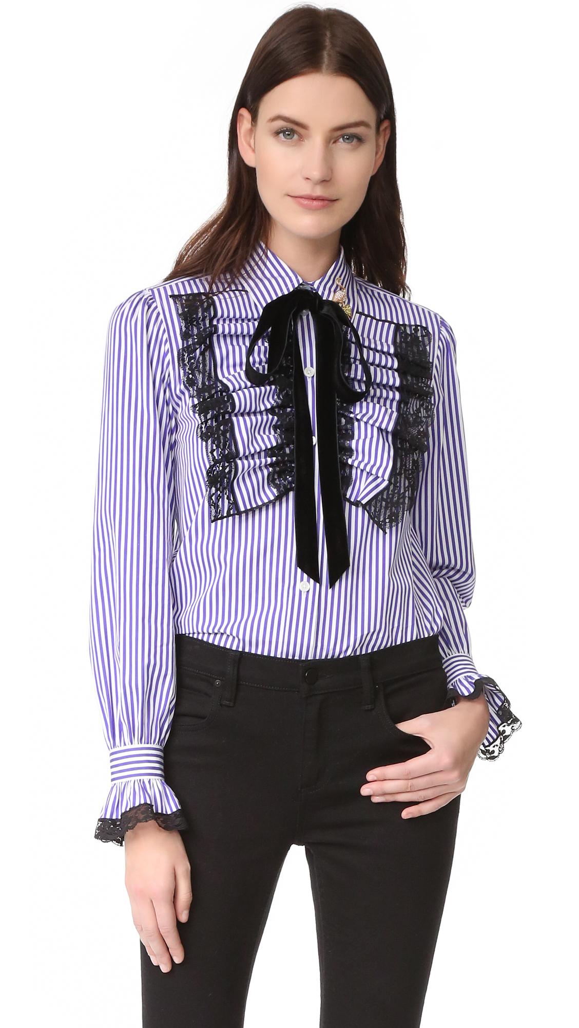 marc jacobs female marc jacobs long sleeve blouse purple