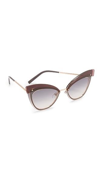 Marc Jacobs Многослойные солнцезащитные очки «кошачий глаз»