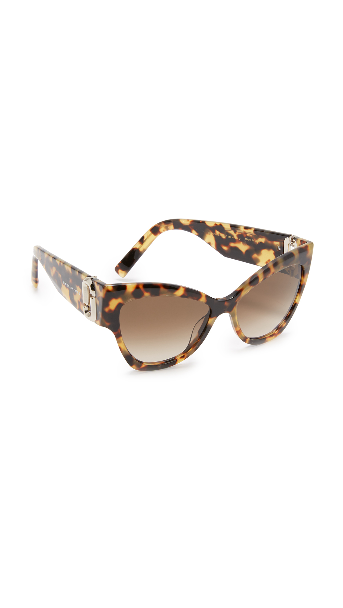 marc jacobs female 420893 marc jacobs cat eye sunglasses glitter havanabrown